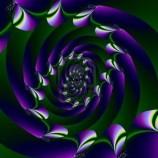 570416-abstract-frattale-immagine-di-una-spirale-viola-con-disco-colorato-punti