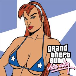 L'indimenticabile Candy suxx, doppiata da Jenna Jameson. Per Vice City collaborarono altri attori famosi come Burt Reynolds