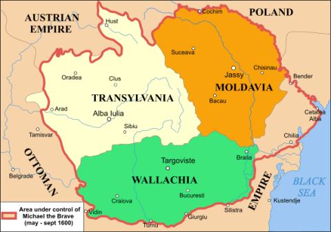 Massima espansione dei domini di Michele il Coraggioso (maggio-settembre del 1600).