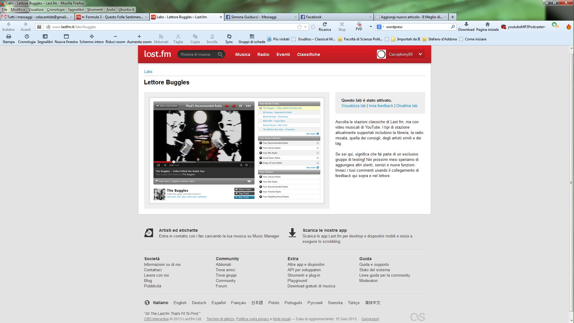 "home page del ""labs"""