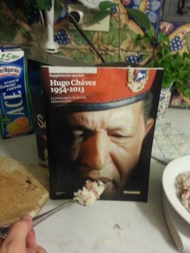Hugo Chavez, protagonista del 2013, won't eat his cereal