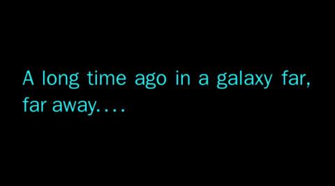 """Tanto tempo fa, in una galassia lontana lontana, α aveva un diverso valore e permetteva l'esistenza della """"forza"""", di spade laser, di Ratzinger capo del lato oscuro."""