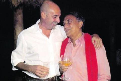 Paolo Brosio col suo vecchio boss, Emilio Fede.