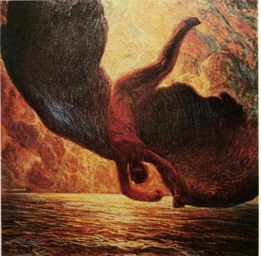 Galileo Chini, Icaro, Roma, collezione privata, olio su tela, 1907