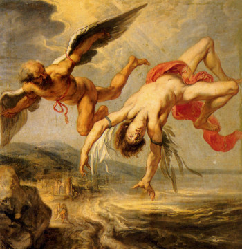 Jacob Peter Gowy, La caduta di Icaro, Madrid, Museo del Prado, olio su tela, 1636/1638
