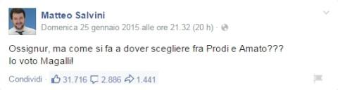 Ossignur Salvini cerca di tacere