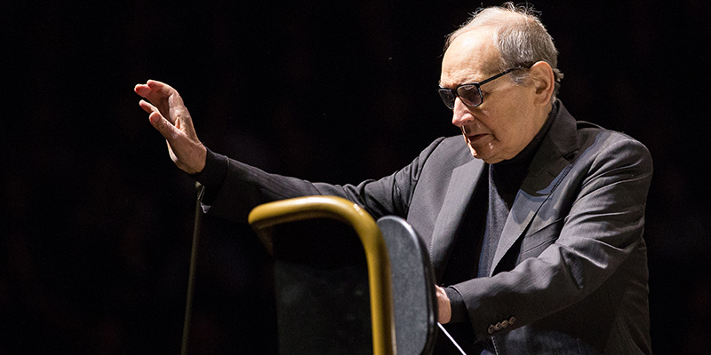 Ennio Morricone in concerto a Colonia nel 2016. Maja Hitij/picture-alliance/dpa/AP Images