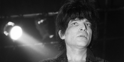 Alan Vega in concerto nel 1982 a Londra. Foto di David Corio/Redferns.