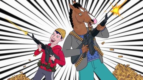 Bojack e Todd in uno dei loro classici momenti