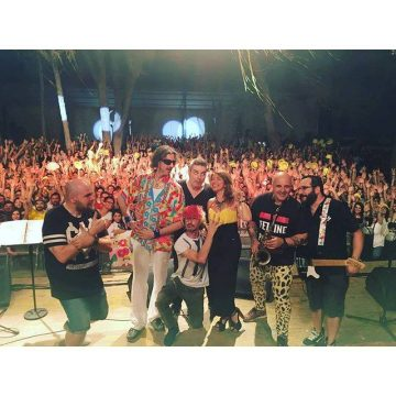La stage-pic della serata, da facebook.com/cristinadavenaofficial
