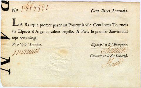 Una banconota della Banca Generale