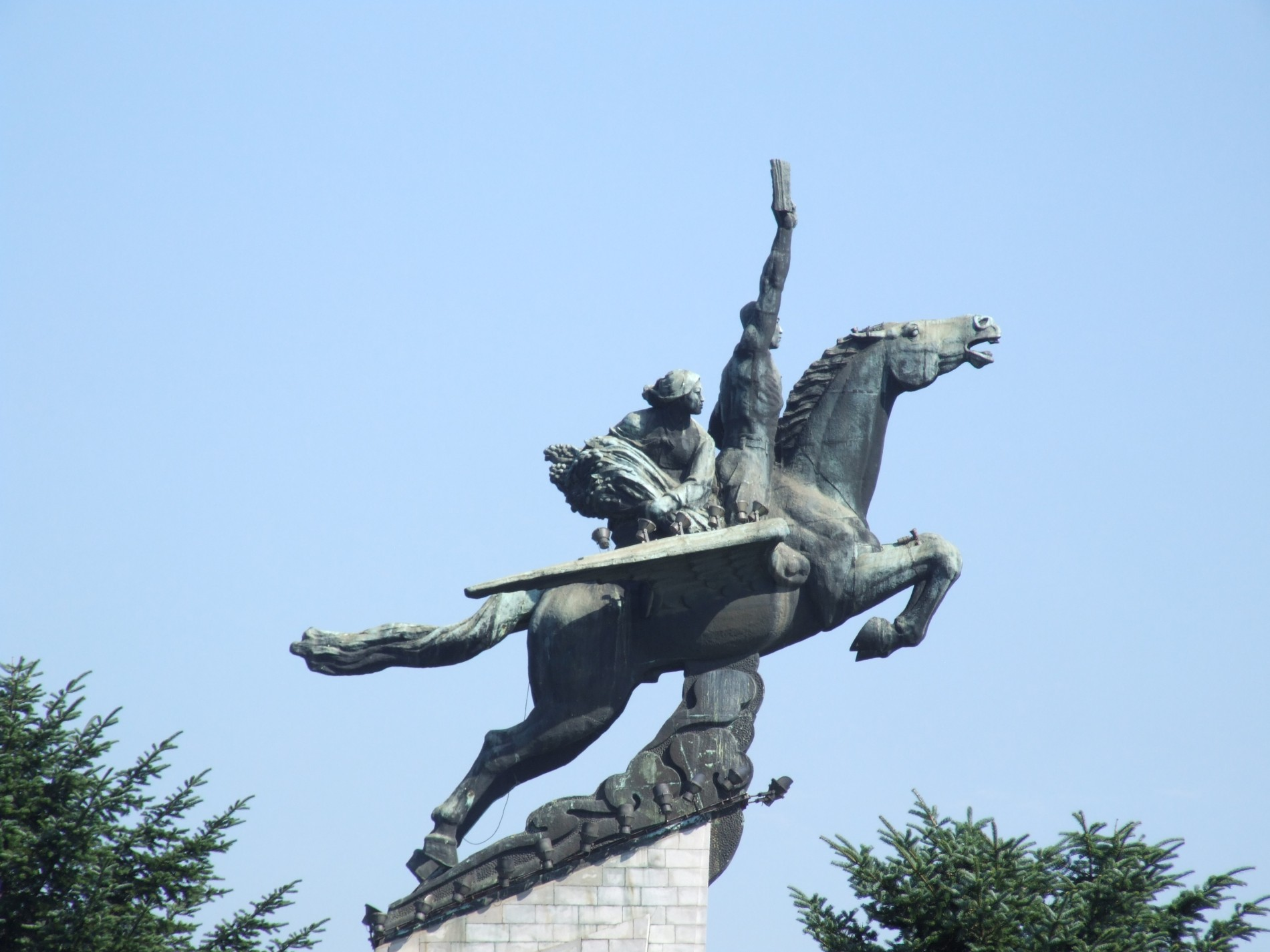 Statua di Chollima a Pyongyang