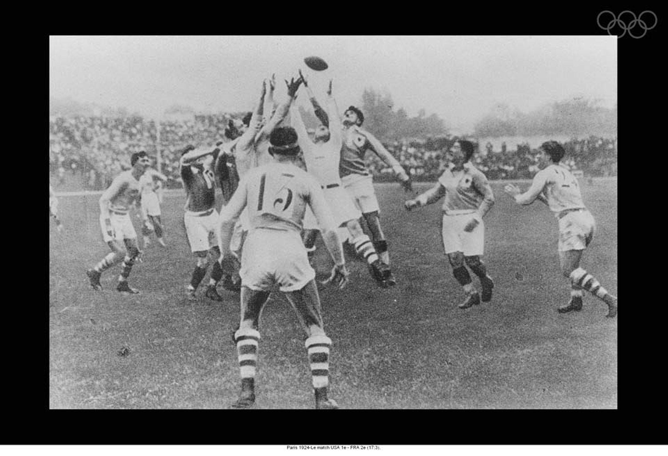 Finale per la medaglia d'oro nel rugby dell'Olimpiade 1924 a Parigi. Foto: olympic.org