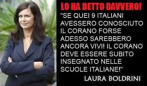 Una delle tante bufale su Laura Boldrini