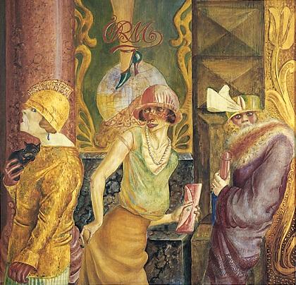Otto Dix, Tre prostitute per strada, 1925