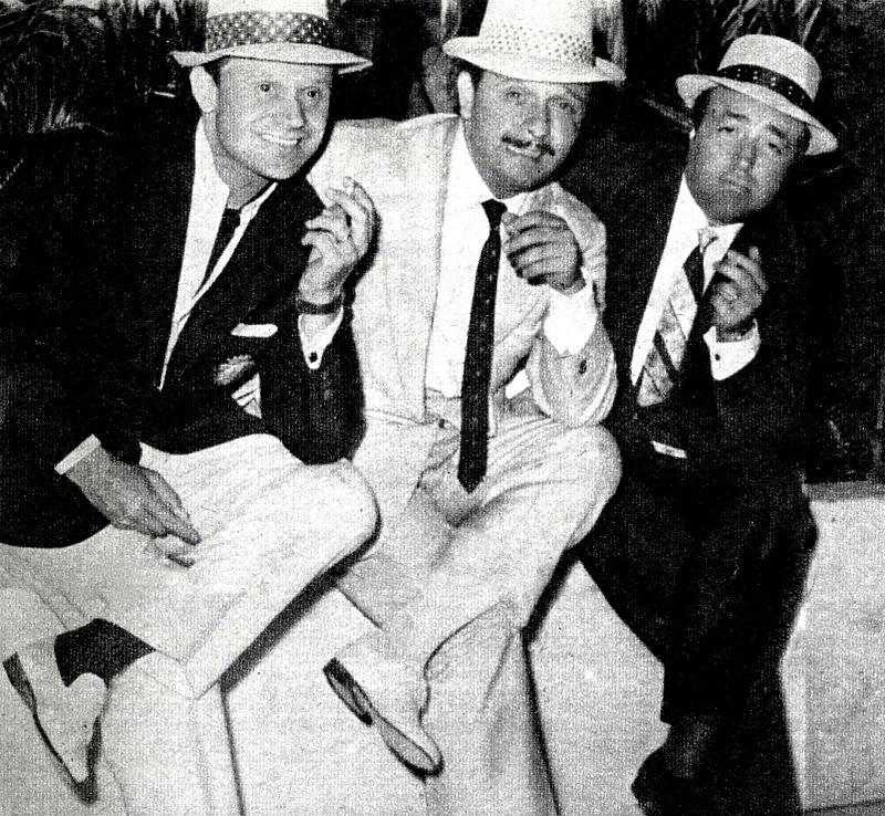 Leo Chiosso, Fred Buscaglione e Gino Latilla in posa per una foto nel 1958, foto: wikicommons