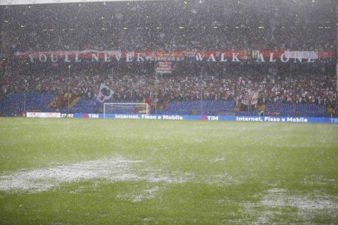 Lo splendore del poco bagnato campo di Marassi - FOTO: SportMediaset.it