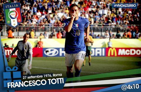 Totti esulta dopo il rigore segnato contro l'Australia agli ottavi di finale del Mondiale 2006 - FOTO: profilo ufficiale Twitter Vivo Azzurro