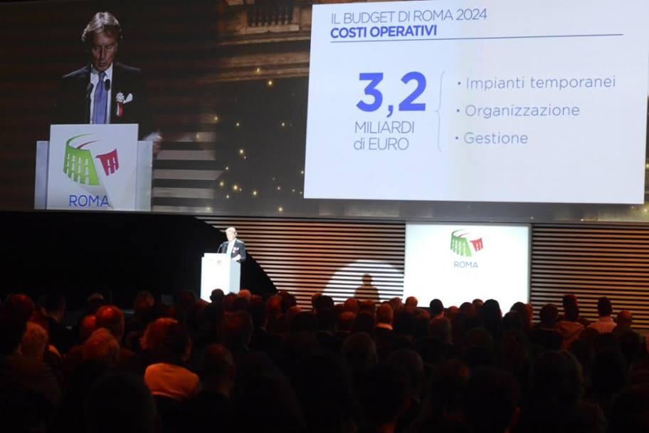 Luca Cordero di Montezemolo illustra i costi di Roma 2024