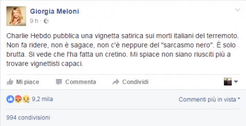 Giorgia Meloni, una di quelle persone che se stanno zitte fanno del bene alla Patria