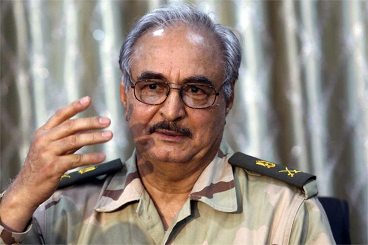 Il Generale Belkasim Al Haftar, a capo del governo di Tobruk