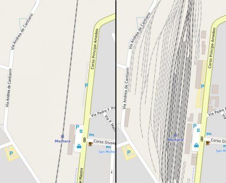 Evoluzione della mappa ad opera degli utenti della stazione di Mortara.