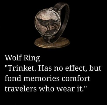 wolf ring meme trinket