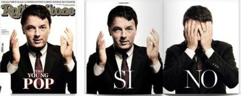 Renzi in copertina su Rolling Stone, con il referendum alle porte