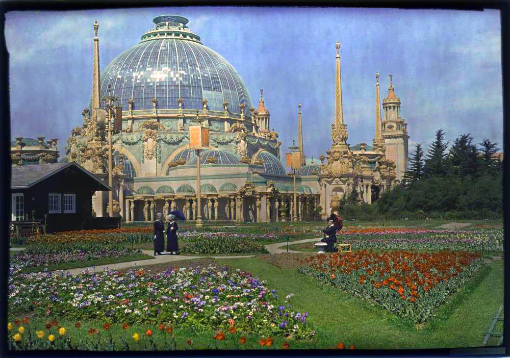 Palazzo dell'Orticoltura, foto a colori, Esposizione Universale di San Francisco