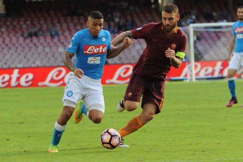 Allan spaventato dall'avere il pallone tra i piedi - FOTO: SSC Napoli
