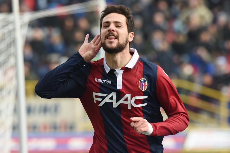 Mattia Destro esulta un gol segnato in Serie A con la maglia del Bologna, foto: Matteo Gribaudi/Image Sport