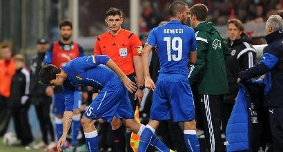 Francesco Acerbi che entra dalla panchina nell'esordio con la maglia azzurra, foto: IPP