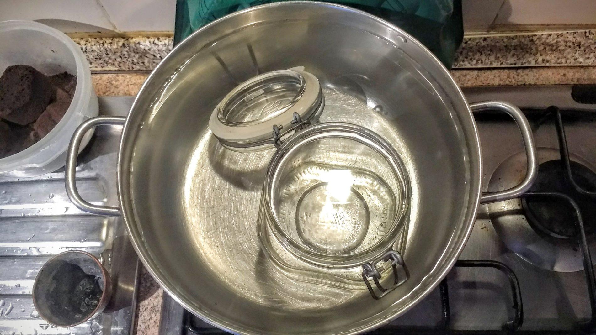 Un pizzico di Bicarbonato di Sodio nell'acqua renderà la disinfezione ancora più profonda senza influire minimamente sul sapore.