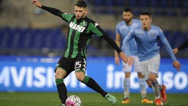 Berardi in azione con la maglia del Sassuolo, foto: lapresse