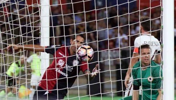 Marco Borriello in gol contro la Roma, foto: lapresse