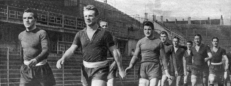 Il Grande Torino al Filadelfia, 1949. Fonte Wikipedia