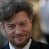 British actor Charlie Brooker arrives fo