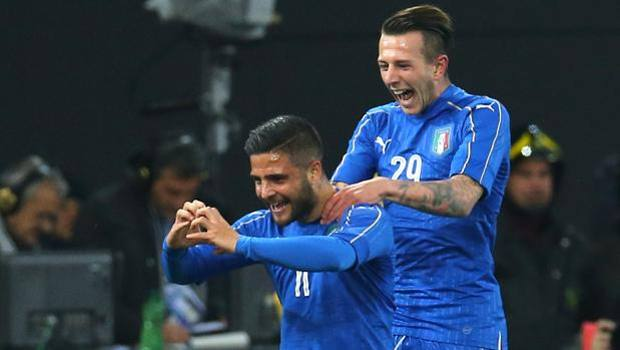 Lorenzo Insigne festeggia un gol in nazionale, foto: AP