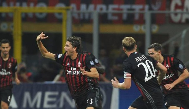 Manuel Locatelli esulta incredulo al suo primo gol in rossonero, foto: ilgiorno.it