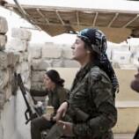 L'esercito curdo siriano nella citta' di Rabia, Siria
