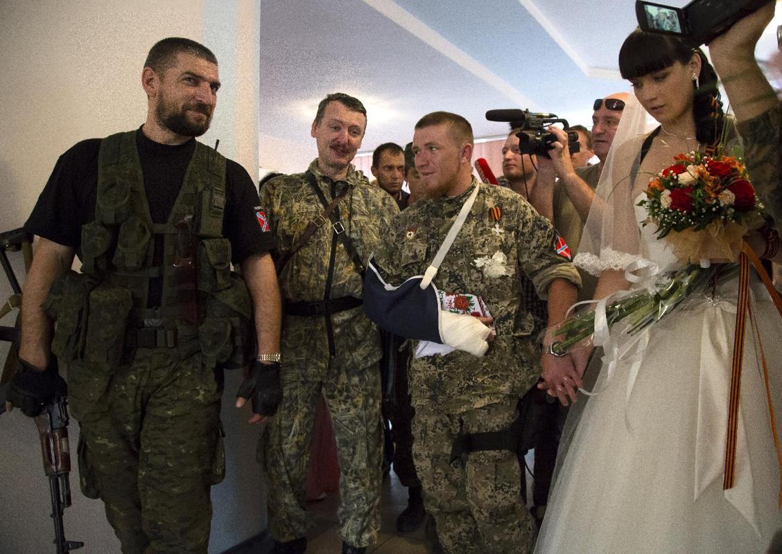 Foto della cerimonia di matrimonio di Arsen Pavlov, morto lunedì scorso