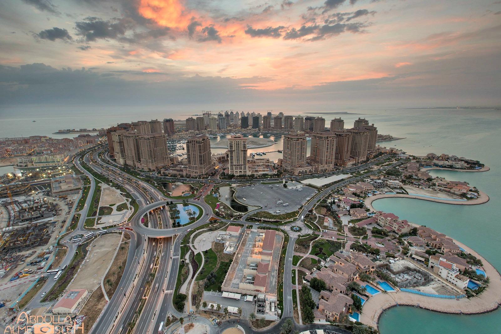 """Lo scenario del circuito finale: la """"perla"""" di Doha."""