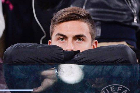Dybala costretto alla tribuna a causa di un infortunio muscolare