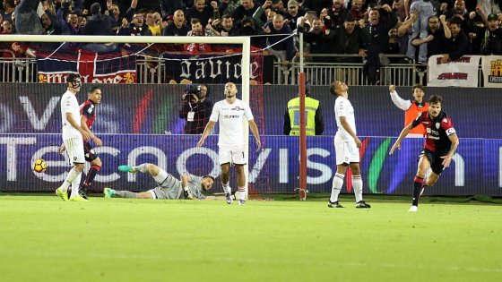 Serie A 11° turno: L'esultanza di Daniele Dessena
