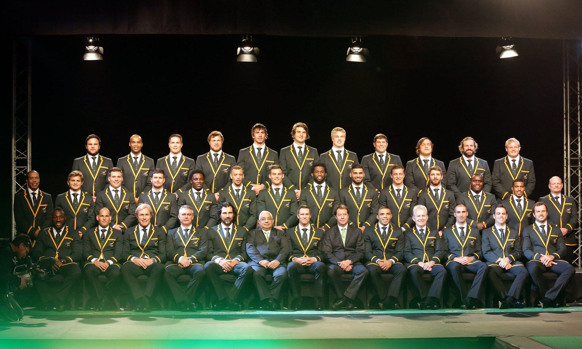 La nazionale Sudafricana del 2015, completamente diversa rispetto a quella di Italia-Sudafrica, foto: gettyimages