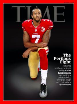La copertina di Time con Kaepernick in ginocchio