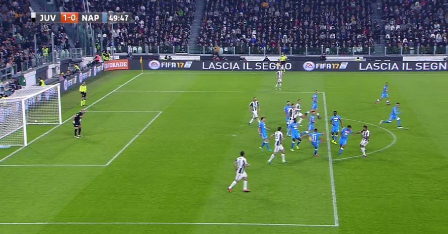 """Serie A 11° turno: Un grande """"assist"""" di Faouzi Ghoulam per Leonardo Bonucci in Juventus-Napoli"""