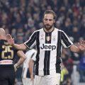 Higuaìn non esulta al gol contro il Napoli