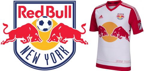 Logo e maglia del New York Red Bull