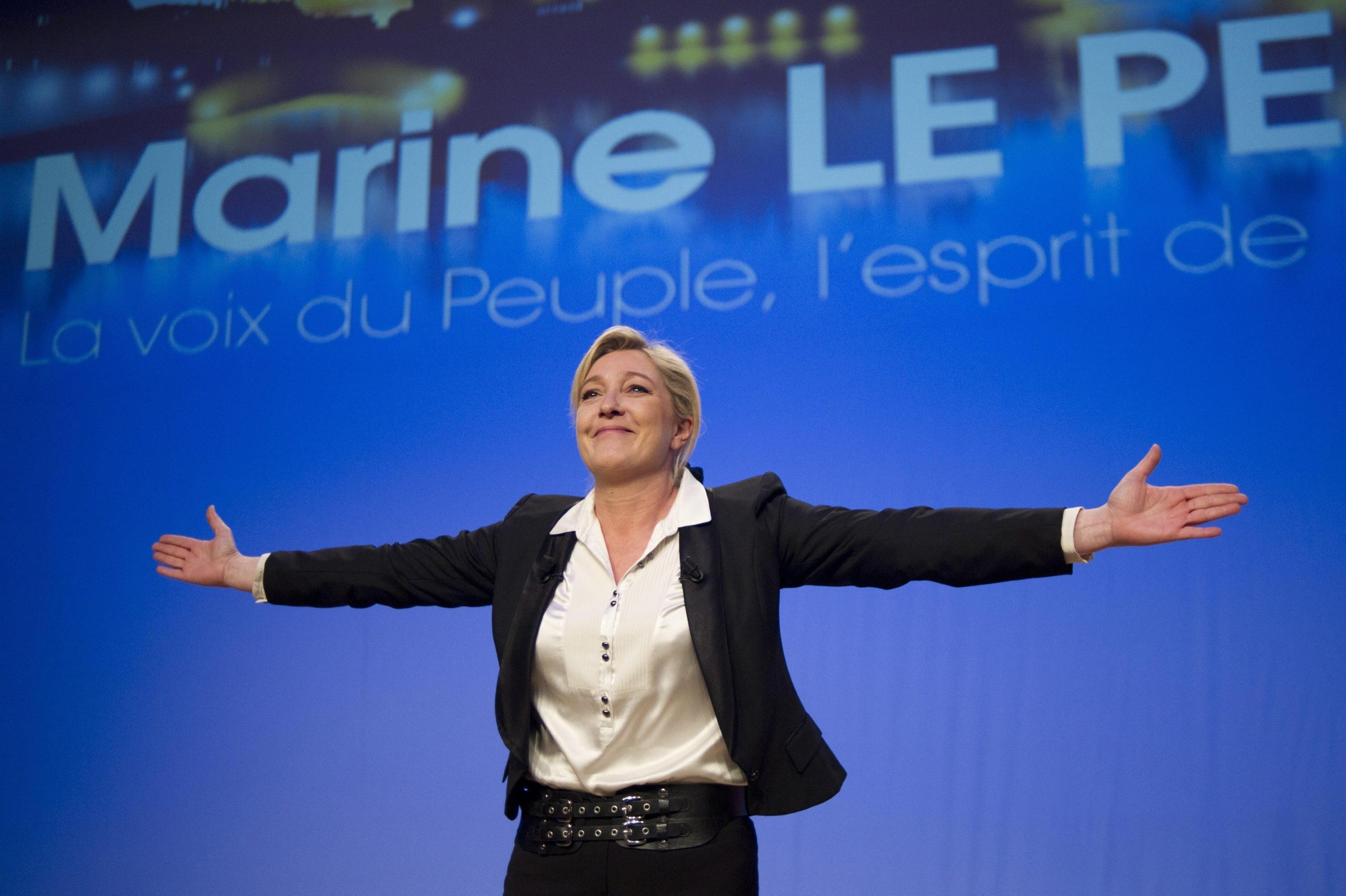 Marine Le Pen, candidata del Front National alle prossime elezioni